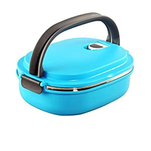 kitchen helper stainless steel interior lunch box with vacuum seal lid bento lunch. Black Bedroom Furniture Sets. Home Design Ideas