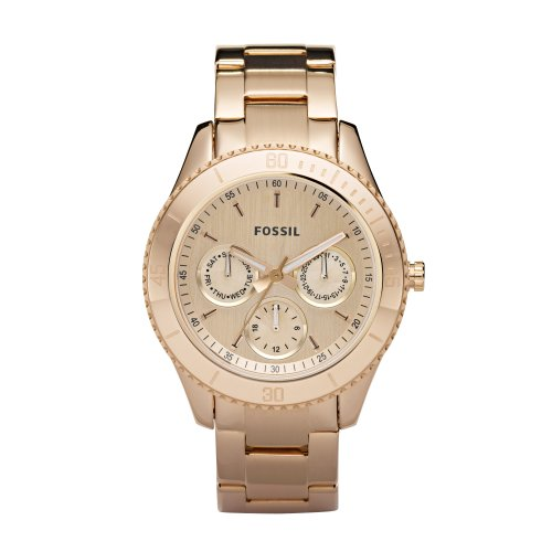 Fossil Damen-Multifunktionsuhr Ladies Dress Rotgold Analog Quarz ES2859