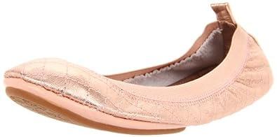 Yosi Samra Women's Quilted Ballet Flat,Rose Gold,7 N US