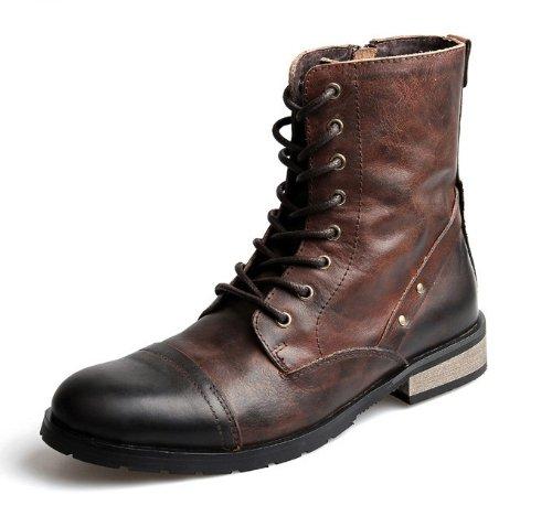 牛革100% ブーツ メンズ ブラック 茶 ブラウン 24cm-27cm 2011-5