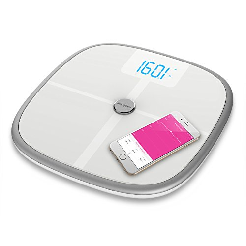 Koogeek Bluetooth Wifi Smart Scale,8 Body Statistics Measurement, 16 Users Recognition, Baby Weighing (Wi Fi Scale compare prices)