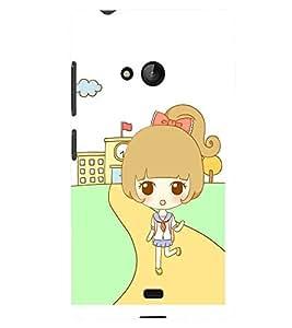 Printvisa Sweet Girl Back From School Back Case Cover for Lumia Lumia 540::Microsoft Lumia 540