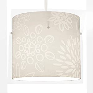 Vintage Style White Cream Flower Cylinder Ceiling Pendant Light Shade