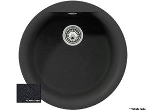 Schock Spüle Xtra R100 Onyx rund / Auflagespüle / Ausschnittmaß Ø 415 mm / CristalitePlus® / Rundbecken / Rundspüle / TrendLine  BaumarktKritiken und weitere Infos
