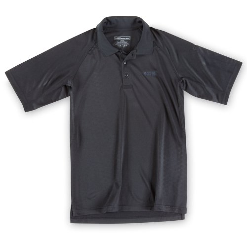 5.11 Men'S Performance Polo Short Sleeve Shirt With Emblem, Black, X-Large