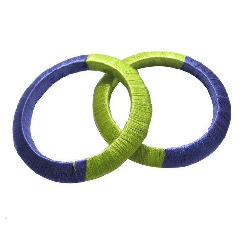 Iba Stylish Silk Thread Bangle Set Of 2 Pc Fashion Jewellery