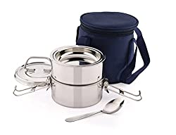 Pigeon AROMA 2 Lunch Box, Silver