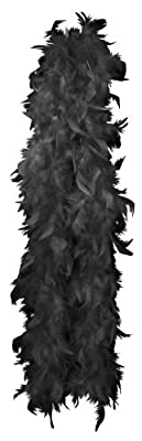 Accessories - Black Glamorous Feather Boa. This Accessory Is The Perfect Addition To Any Ladies Fancy Dress Costume. The Boa Is 1.5M In Length
