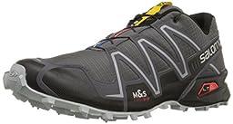 Salomon Men\'s Speedcross 3 Trail Running Shoe,Dark Cloud/Black/Light Onix,9.5 M US