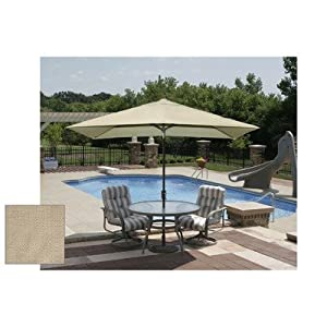 Challenger Swim Time 6.5-Feet x 10-Feet Rectangular Market Umbrella - Champagne at Sears.com
