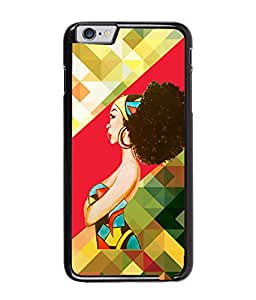 Fuson Pattern Girl Back Case Cover for APPLE IPHONE 6 PLUS - D3706