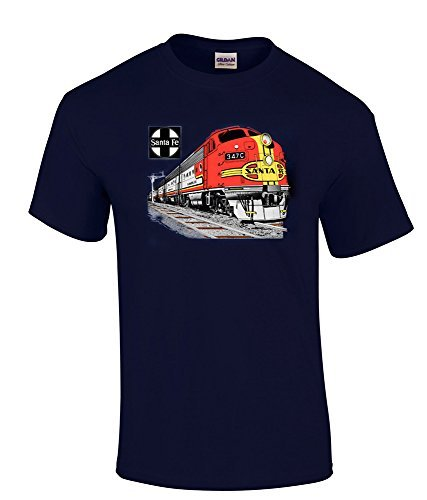 AT&SF (Santa Fe) Super Chief at Night Authentic Railroad T-Shirt Kids Small (6-8) [119] by Daylight Sales