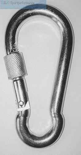 Moschettone gancio moschettone 10 x 100 mm con chiusura a vite ZB per. Sacco da boxe Sling Suspension Trainer