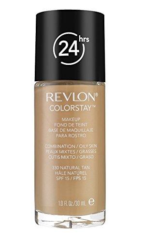 Fondotinta Revlon Colorstay Make Up - combination/Oily Skin 330 Natural Tan - Confezione Doppia