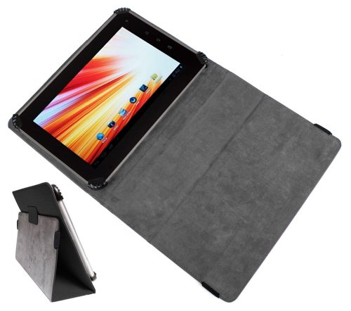 "Duragadget Pu Leather Portfolio Cover Case With Stand For Davinci Mobile Technology Kite Full-Hd, Epad Lb-01, Epad Flytouch 3, Evi Yziwide & Superpad 7 10.2""Inch Flytouch 8 Android 4.0.3 1.2Ghz Gps Tablet front-941062"