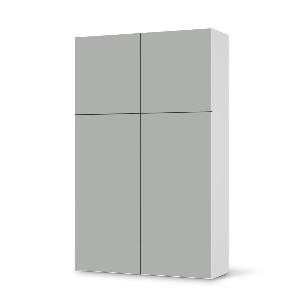 Folie IKEA Besta Schrank Hochkant 4 Türen (2+2) / Design Aufkleber Samtfarbe 1 / Dekorationselement günstig online kaufen