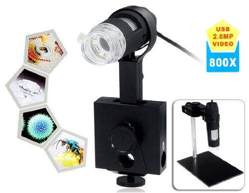 800X Optical Electronic 2.0Mp Usb Digital Microscope (Black)