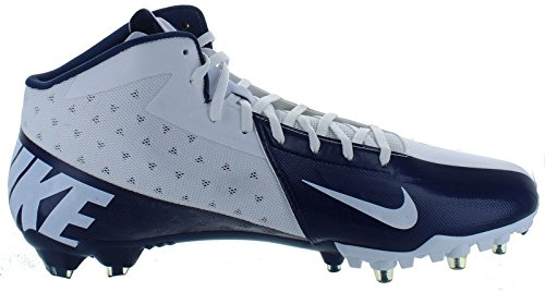 New! NIKE Vapor Talon Elite 3/4 Football Cleats Navy Blue & White Football Shoes - Size 13