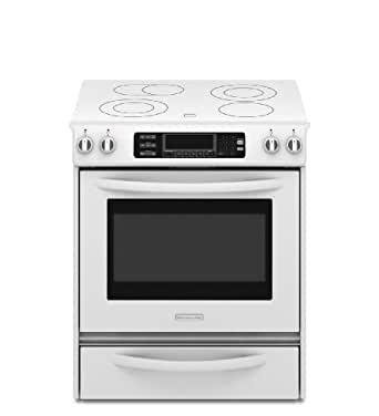 Amazon.com: Kitchenaid KESS907SWW True Convection Oven Glass Cooktop ...