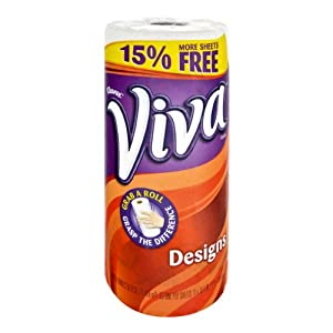 Viva Designs White Paper Towels, 50 SF (Pack of 24)