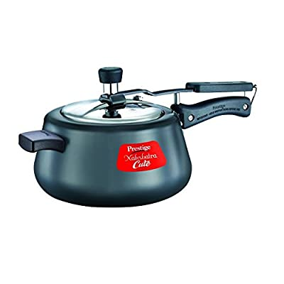Home and Kitchen Cookware Cute 5 ltr Hard Anodized Pressure Cooker (Black)
