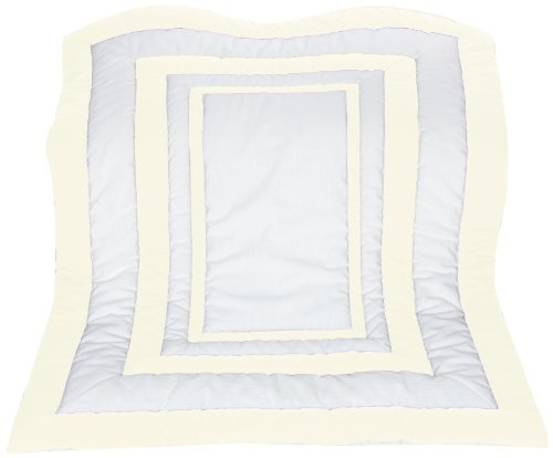 Baby Doll Modern Hotel Style Crib Comforter, Ivory