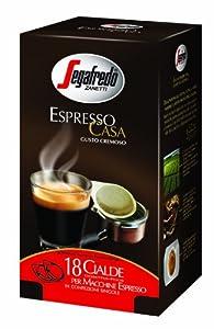 6 x Segafredo Espresso Casa Coffee ESE Pods (18 x 7g)