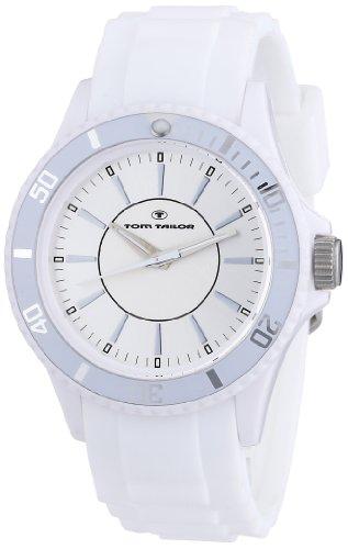 Tom Tailor - 5407905 - Montre Mixte - Quartz Analogique - Bracelet Silicone Blanc