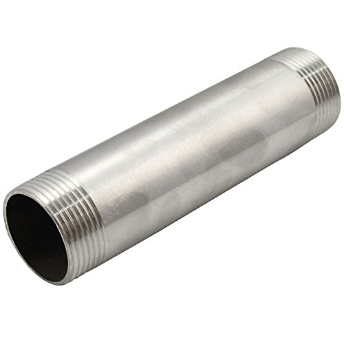 SuperWhole-12-Male-x-12Male-Threaded-Pipe-Fitting-200MM-DN15-Stainless-Steel-SS304-NPT