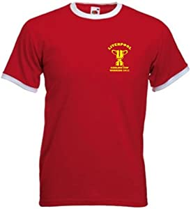Liverpool Fc Carling Cup Winners Retro Style Football T-shirt Extra Large by Invicta Screen Printers