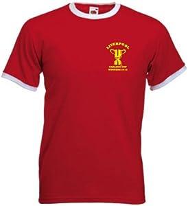 Liverpool Fc Carling Cup Winners Retro Style Football T-shirt Medium from Invicta Screen Printers