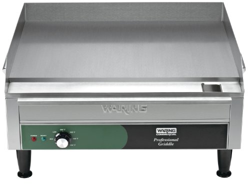 Waring Commercial WGR240 240-volt Electric Countertop Griddle, 24-inch