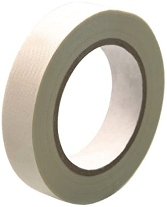 CS Hyde High Temperature Fiberglass  Double Sided Silicone Adhesive Tape, Ivory 1/2 inch x 36 yards