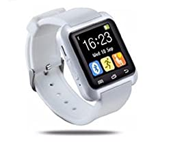 General AUX Touch Bluetooth Watch with Altimeter, Barometer, Padometer, Receive call and make calls through Bluetooth, Bluetooth Camera(White)