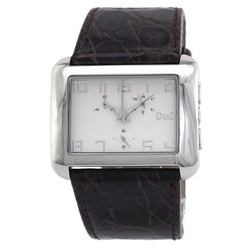 D&G Dolce&Gabbana Respect Chrono 3719740153 - Reloj de caballero de cuarzo con correa de piel marrón