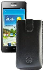 Favory Ledertasche für das Huawei Ascend G615 - G600 mit Rückzugsfunktion in schwarz