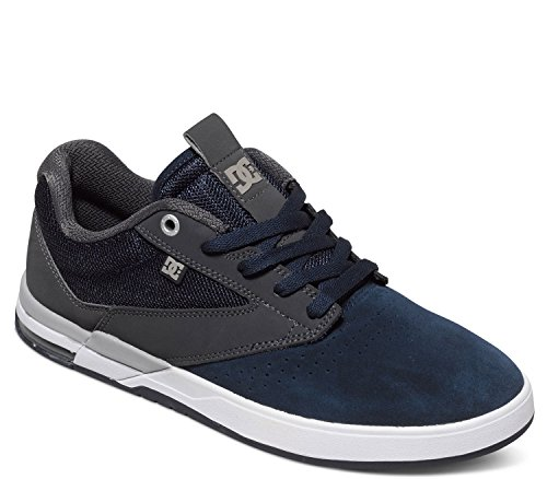 DC Mens Wolf Skate Shoes, Navy/Grey, 11D