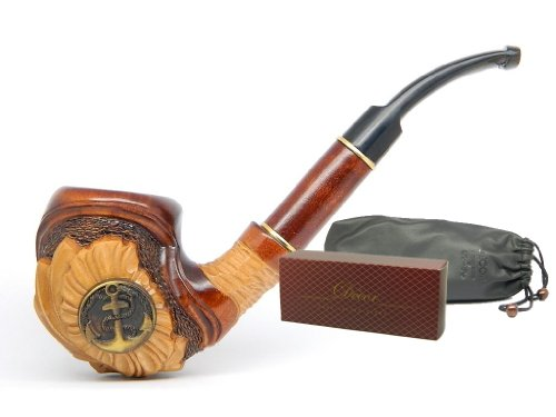 "Tobacco Smoking pipe ""Anchor"" Captain Yaht Sailor Navy Sea Collectible, Estate, Limited Edition plus Gift POUCH"