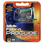 Gillette Fusion Proglide Power Razor Blades Refills - 8 Count Cartridges Shaver