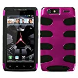 MyBat MOTXT912HPCSK034NP Metallic Fishbone Protective Case for Motorola XT912 (Droid Razr) - 1 Pack - Retail Packaging - Hot Pink/Black