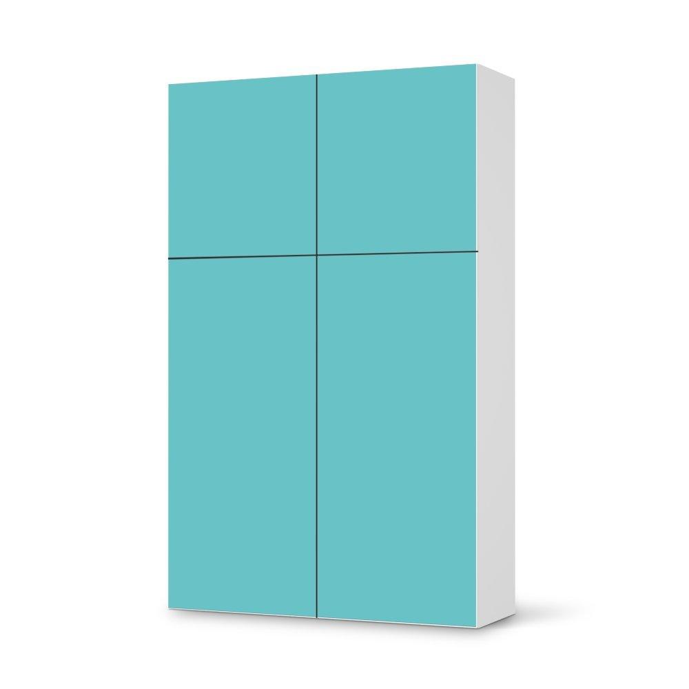 Folie IKEA Besta Schrank Hochkant 4 Türen (2+2) / Design Aufkleber Türkisgrün 3 / Dekorationselement online kaufen