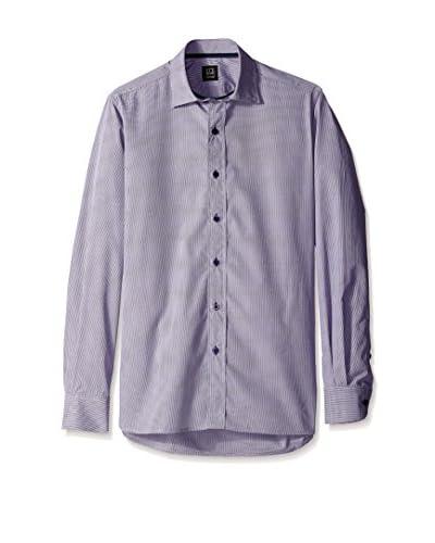 Ike Behar Men's Mini Check Sportshirt