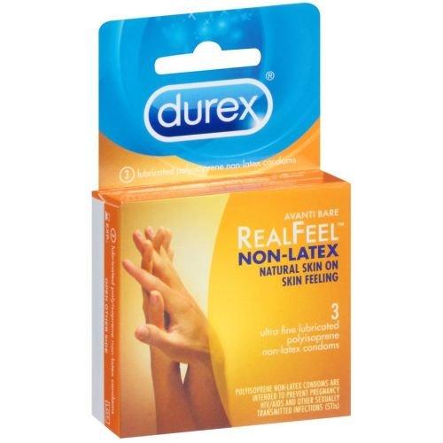 Durex Avanti Bare RealFeel Non Latex Condom, 3 count per pack -- 144 per case.