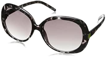 Carlos by Carlos Santana Women's 10815 Round Sunglasses,White Tort,57 mm