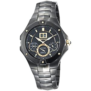 Click to buy Seiko Watches for Men: SNP017 Coutura Kinetic Perpetual Watch from Amazon!
