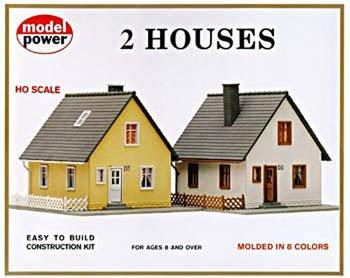 Model Power 479 Twin Cape Cod House Kit (2) HO
