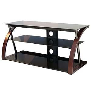 TechCraft BWNTR48 48-Inch Wide Flat Panel TV Stand - Walnut/Black