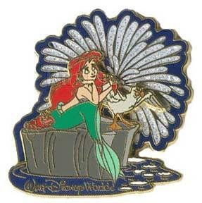 Ariel & Sebastian Fireworks Le Surprise WDW Disney PIN the Little Mermaid