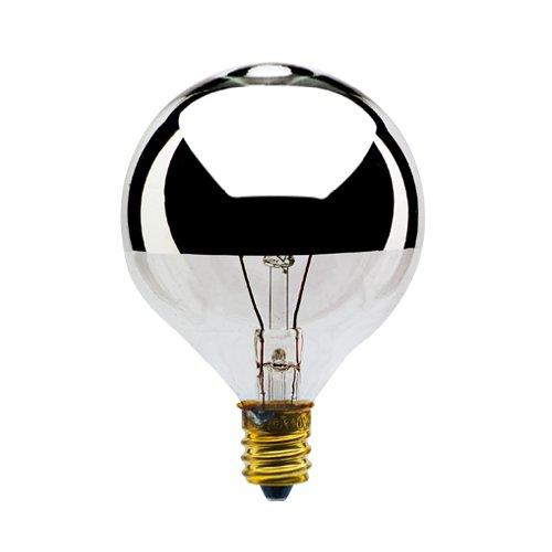 Bulbrite 40g16hm Half Chrome 40w Globe Shape Bulb Arts