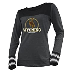 Buy NCAA Wyoming Cowboys Ladies Striped Long Sleeve Tee by Ouray Sportswear